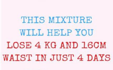 Mixture Will Help You Lose 4 KG